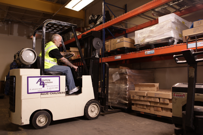 Advertising Distributors Inc - See our warehouse team in action