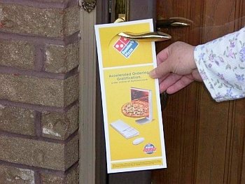 Door-to-door marketing delivery services
